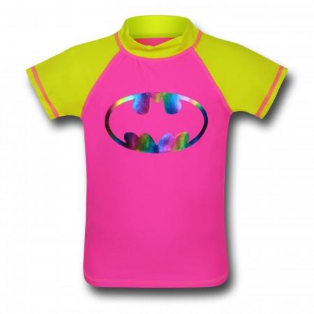 Batgirl Girls' Rash Guard Swim Shirt