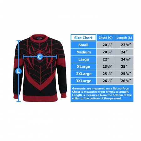 Spiderman Miles Morales Men's Costume Knit Sweater