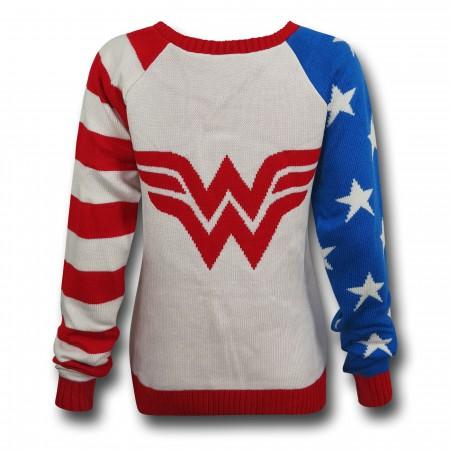 Wonder Woman Old Glory Women's Sweater