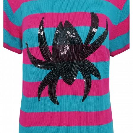 Spiderman Sequin Symbol Women's Sweater