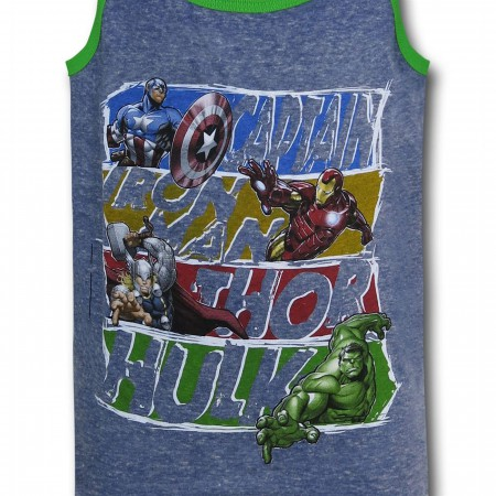 Avengers Assembled Block Kids Tank Top