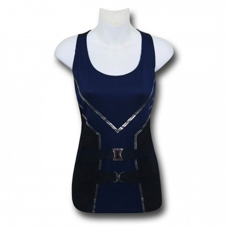 Black Widow Costume Women's Twist Back Tank Top
