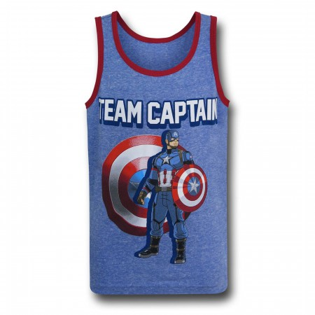 Captain America Civil War Team Captain Kids Tank Top