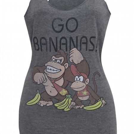 Donkey Kong Go Bananas Women's Racerback Tank Top