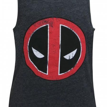 Deadpool Distressed Symbol Tank Top