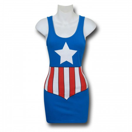 Captain America Costume Women's Tank Dress