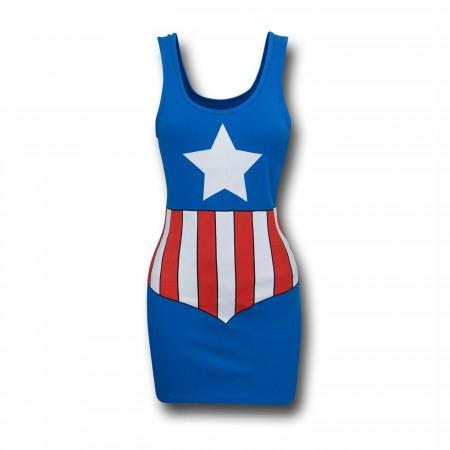 Captain America Costume Women's Tank Dress