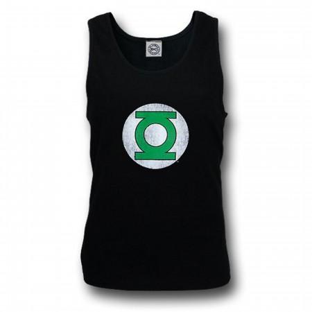 Green Lantern Distressed Black Tank Top