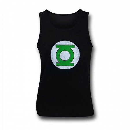 Green Lantern Corps Distressed Black Men's Tank Top