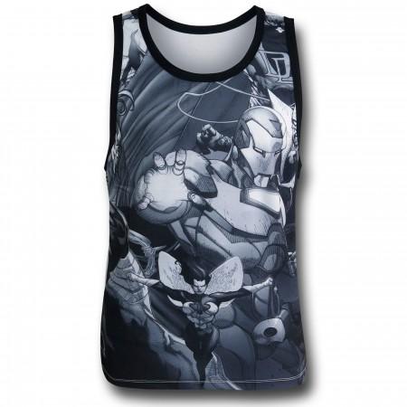 Iron Man Black & White Sublimated Tank Top