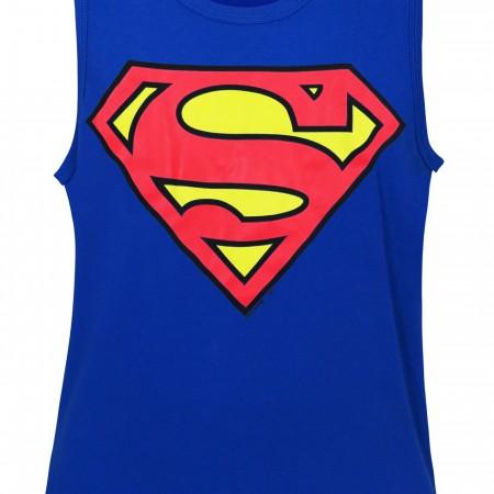 Superman Symbol Royal Blue Men's Tank Top