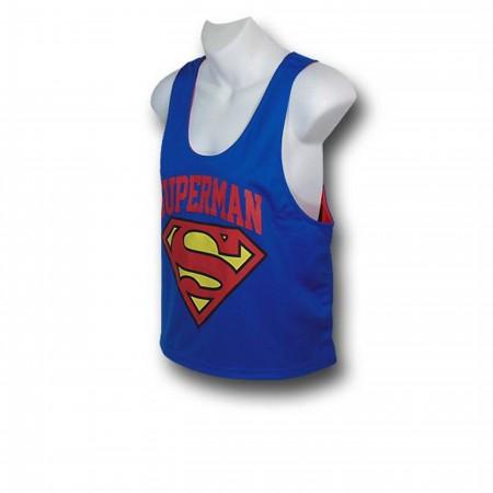 Superman Women's Reversible Mesh Tank Top