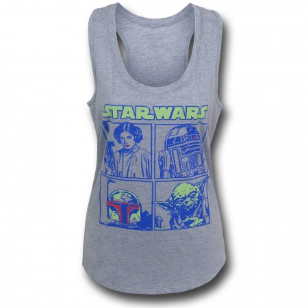 Star Wars Pop Boxes Women's Tank Top