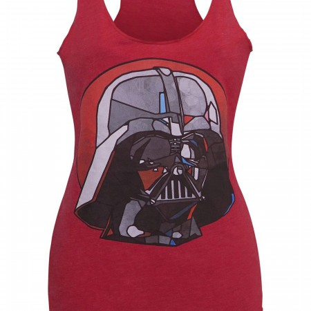 Star Wars Stained Glass Vader Women's Tank Top
