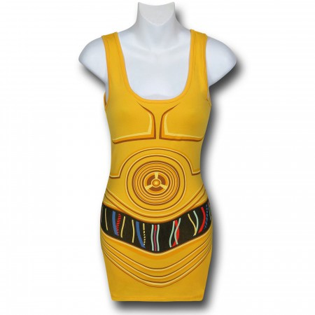 Star Wars Women's C3PO Costume Tank Top