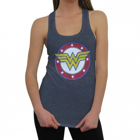 Wonder Woman Symbol & Stars Women's Tank Top