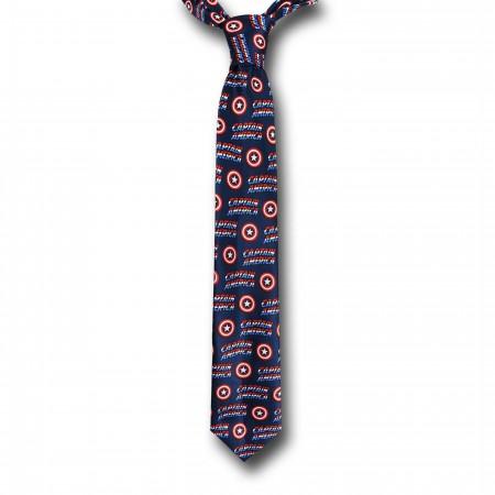 Captain America Shield and Logo Tie