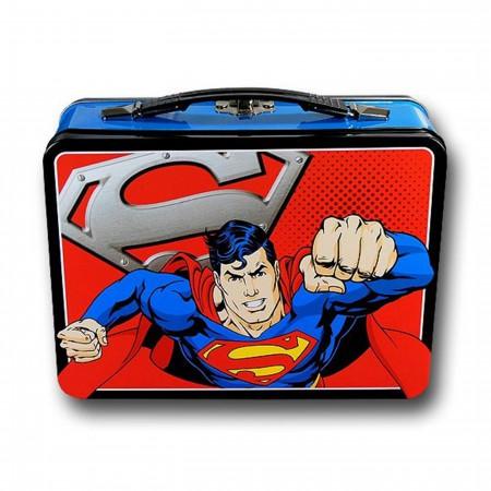 Superman Flying Large Tin Tote