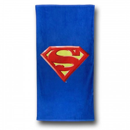 Superman Symbol Beach Towel