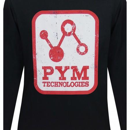 Pym Tech Distressed Logo Men's Long Sleeve T-Shirt