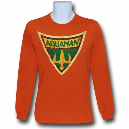Aquaman Brave & Bold Symbol Long Sleeve T-Shirt