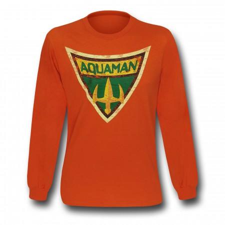 Aquaman Brave & Bold Symbol Long Sleeve T-Shirt
