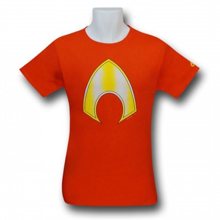 Aquaman Symbol Orange T-Shirt