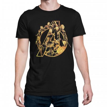 Infinity War Avengers Characters Logo Men's T-Shirt