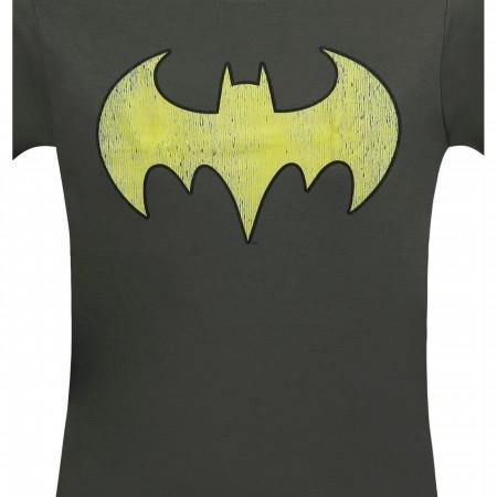 Batgirl Distressed Symbol Grey Women's T-Shirt