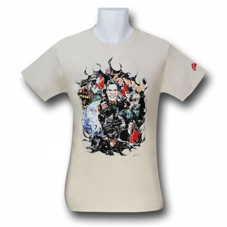 Batman Happy Family by Dustin Nguyen T-Shirt