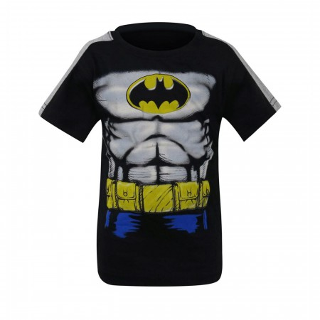 Batman Kids Grey & Blue Costume T-Shirt