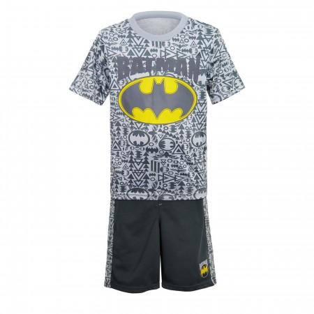 Batman Kids Sublimated T-Shirt & Shorts Set