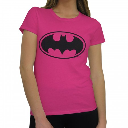 Batman Symbol Women's Pink T-Shirt