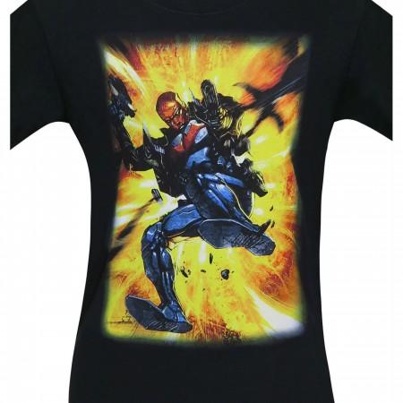 Red Hood Jason Todd Action Shot Men's T-Shirt