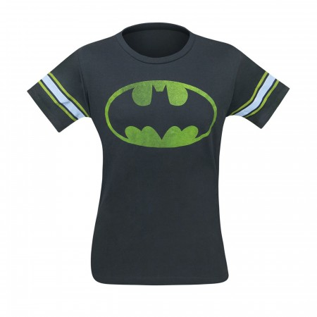 Batman Symbol Black Wash Men's Athletic T-Shirt