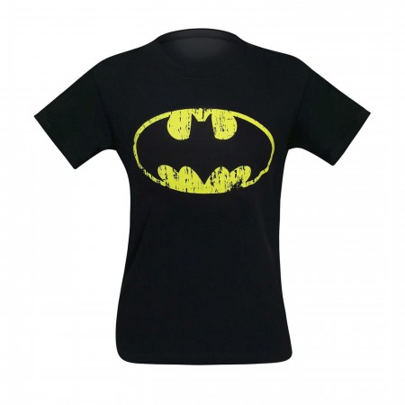 Batman Distressed Symbol Black T-Shirt