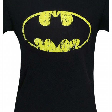 Batman Distressed Symbol Black T-Shirt