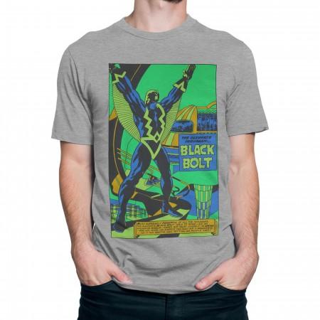 Black Bolt Black Light by Jack Kirby Men's T-Shirt