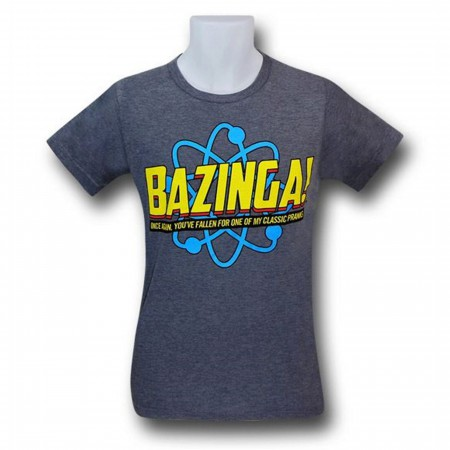 Big Bang Theory Bazinga Pranks 30 Single T-Shirt