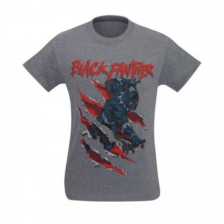 Black Panther Clawing Through Men's T-Shirt
