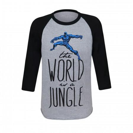 Black Panther Jungle Women's Baseball T-Shirt