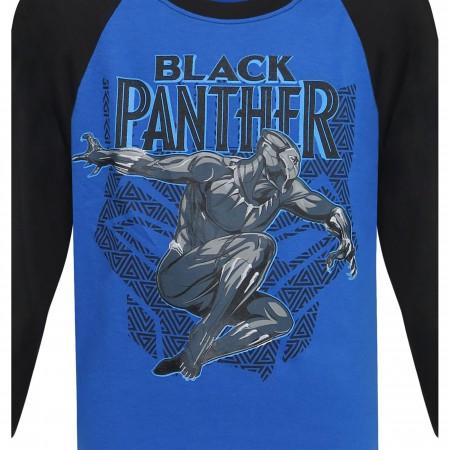 Black Panther Leap Kids Baseball T-Shirt