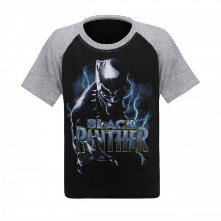 Black Panther Lightning Kids T-Shirt