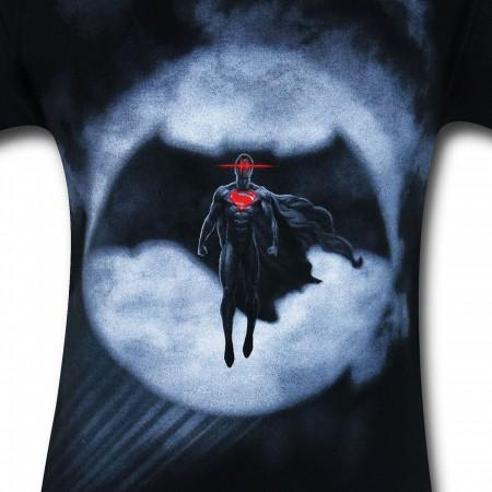 Batman Vs Superman Signal Silhouette T-Shirt