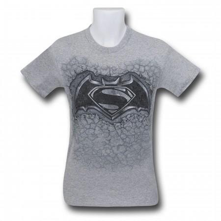 Batman Vs Superman Concrete Symbol T-Shirt
