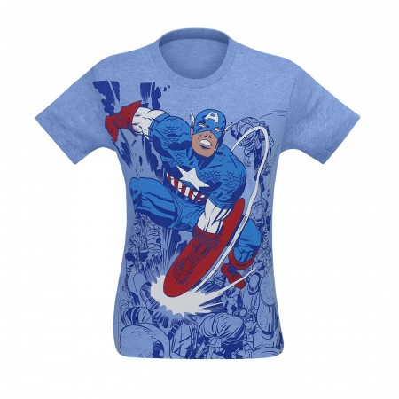Captain America Battle Men's Sublimated T-Shirt