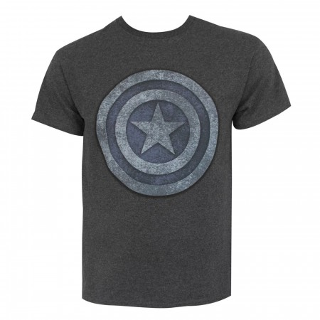 Captain America Blue & Silver Shield Men's T-Shirt