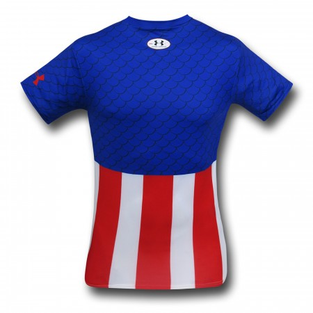 Captain America Costume Under Armour Compression T-Shirt