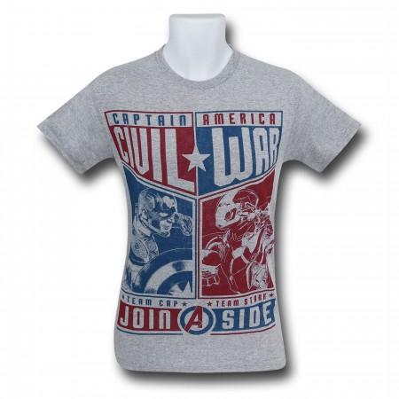 Captain America Civil War Choose A Side Men's T-Shirt