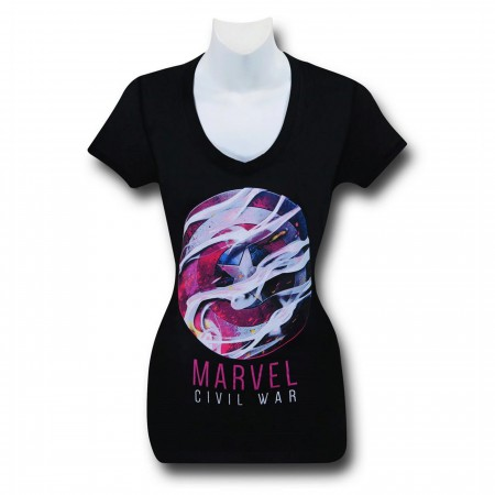 Marvel Civil War Women's V-Neck T-Shirt